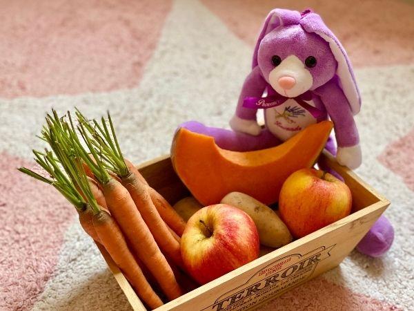 Panier bébé fruits légumes frais bio locaux